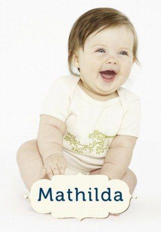 Die schönsten Retro-Kindernamen: Mathilda