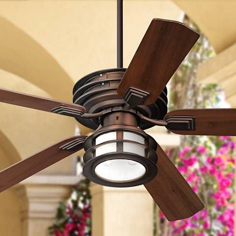 "52"" Casa Vieja Mission II Bronze Outdoor Ceiling Fan - #V8232 