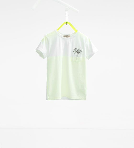 Image 1 of Palm tree pocket T-shirt from Zara