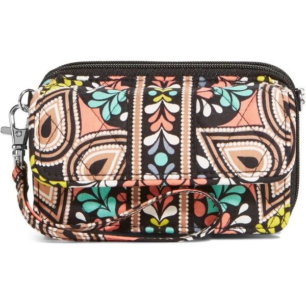 Vera Bradley All in One Crossbody in Sierra featuring polyvore fashion bags handbags shoulder bags accessories sierra wristlets red handbags vera bradley purses zip zip wristlet shoulder strap bag red cross body purse