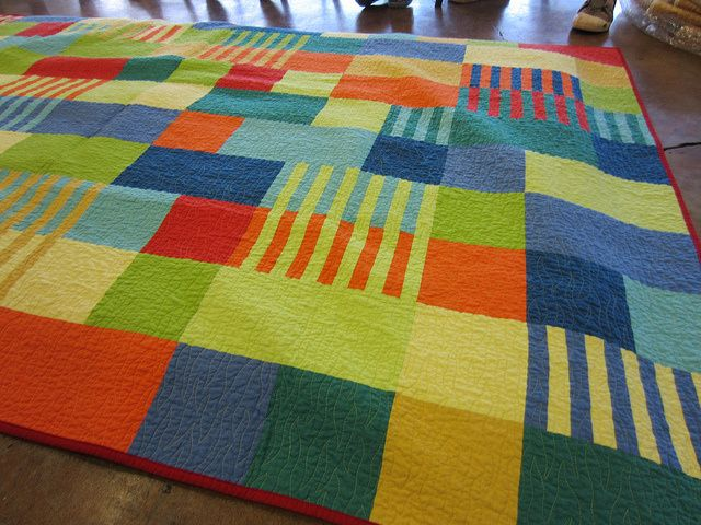 Bill Kerr quilt - it's the stripes that make this quilt.