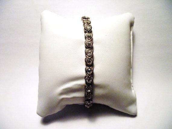 Diamond Hearts Bracelet by MaryLuVintage on Etsy, $30.00