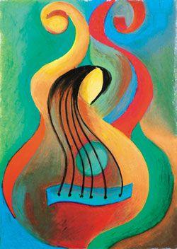 abstract guitar art musical pinterest. Black Bedroom Furniture Sets. Home Design Ideas