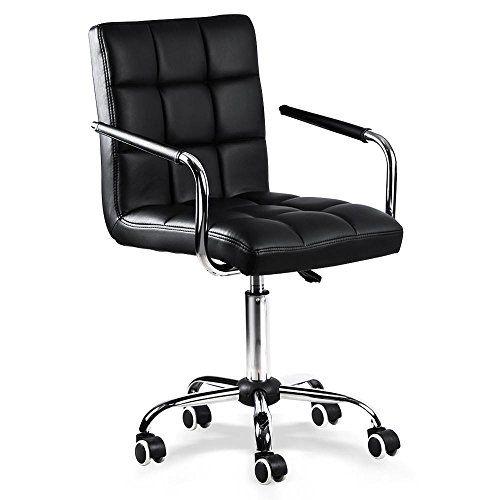 Yaheetech Modern Swivel Office Chair Faux Leather Home