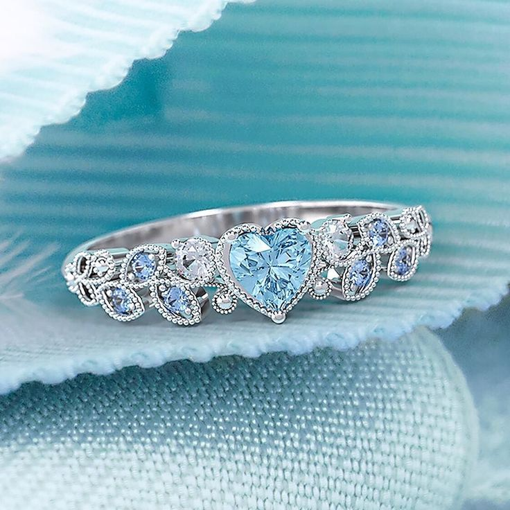 Hearts dainty details and sparkling accents... what's not to love?! Click the link in our bio to personalize our new Natural Beauty Leaf Ring!   . . . #jewelry #ring #hearts #fashion #style #cute #danity #pretty #beautiful #sparkly #accessories #birthstone #inlove #promisering #engagementring #girly #love #want http://jwl.io/32195