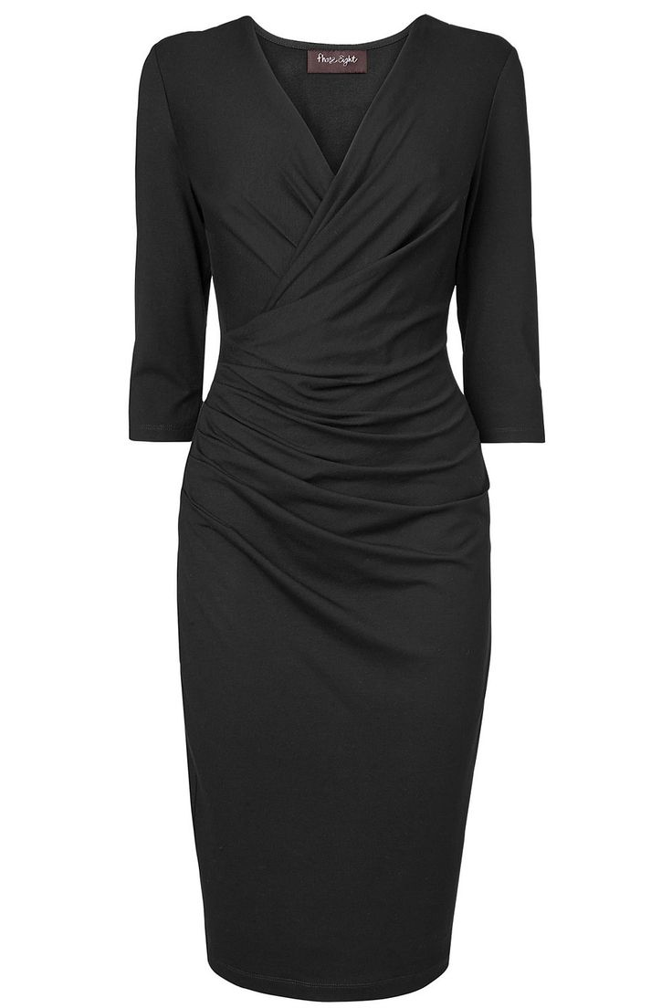 Phase Eight Rhia Wrap Dress - The Brand Store on EziBuy New Zealand. Versatile style! Dress up for evening occasions or keep it simple for work. The ruching detail helps to flatter and formalize this look. #workwear #phaseeight #thebrandstore