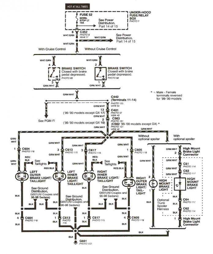18 Auto Honda Wiring Diagram Symbols Samples Bacamajalah In 2020 2000 Honda Civic Honda Civic Engine Honda