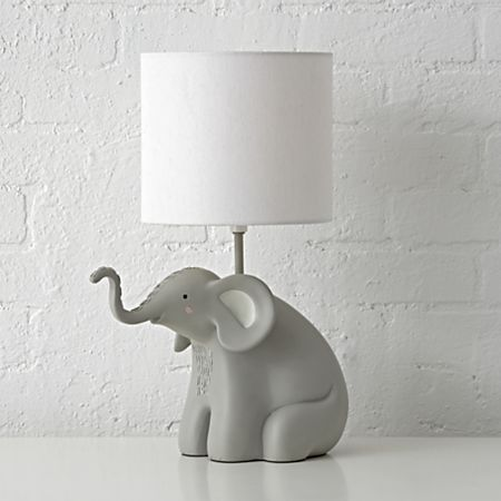 Lamp Table Elephant Off Nursery Boy Jungle Bedding