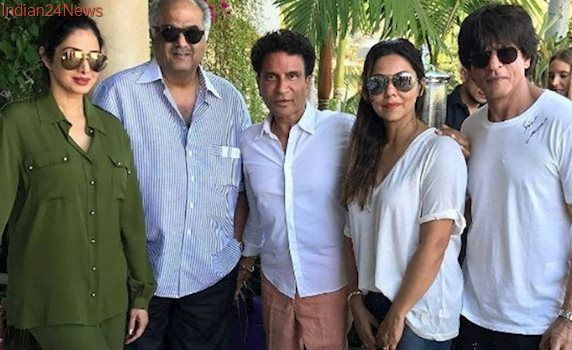 Shah Rukh Khan and Gauri hang out with Sridevi and Boney Kapoor in Los Angeles, see photos