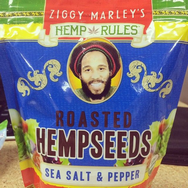 Munch on omegas with Ziggy Marley Organics roasted hemp seeds. Yummy in salads or eaten straight from the bag. Check out the full product line here: http://brinx.it/AlG