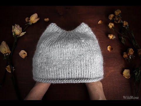 Видеоурок: вяжем спицами шапку с ушками - Ярмарка Мастеров - ручная работа, handmade
