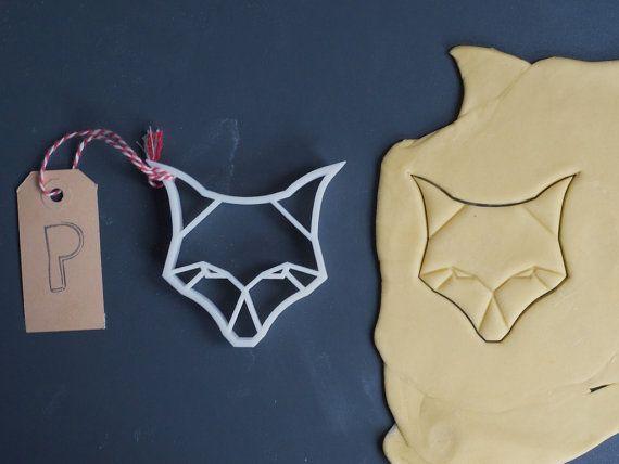 Origami volpe taglierina del biscotto, 3D stampato
