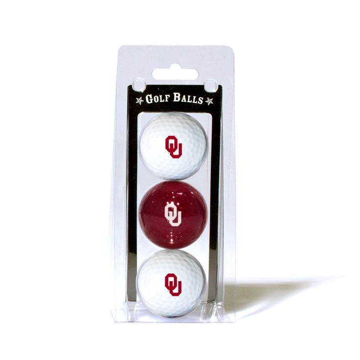 Team Golf Oklahoma Sooners Golf Balls 3 Pack