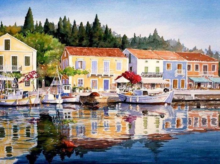 Pantelis Zografos 1949   Watercolors of Greek Islands