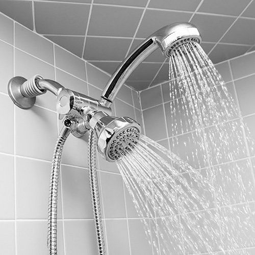 Shoulders double shower head adult