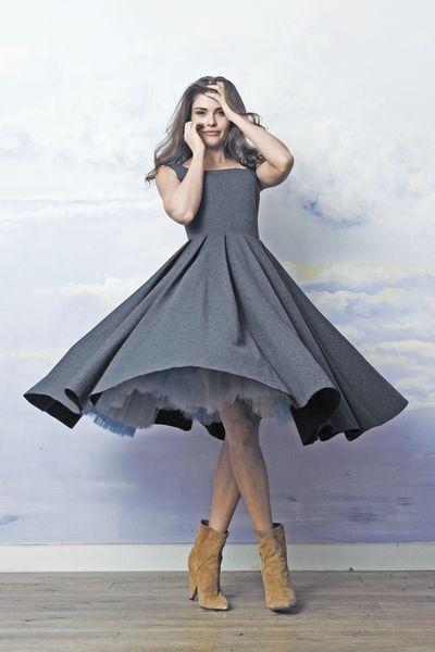 Tulle dress  skirt princess gray #sophiaLoren  SAMPLE SALE ON http://milieubazaar.com