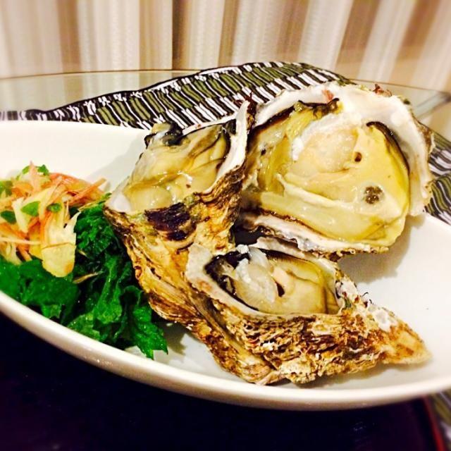 ミョウガと豆苗を添えて。 - 13件のもぐもぐ - 生牡蠣! by ymk52o2b
