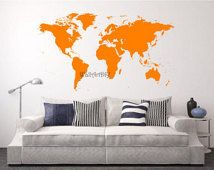 The 25 best world map stencil ideas on pinterest earth world vinyl world map wall decal white world map wall sticker large world map wall mural custom gumiabroncs Image collections