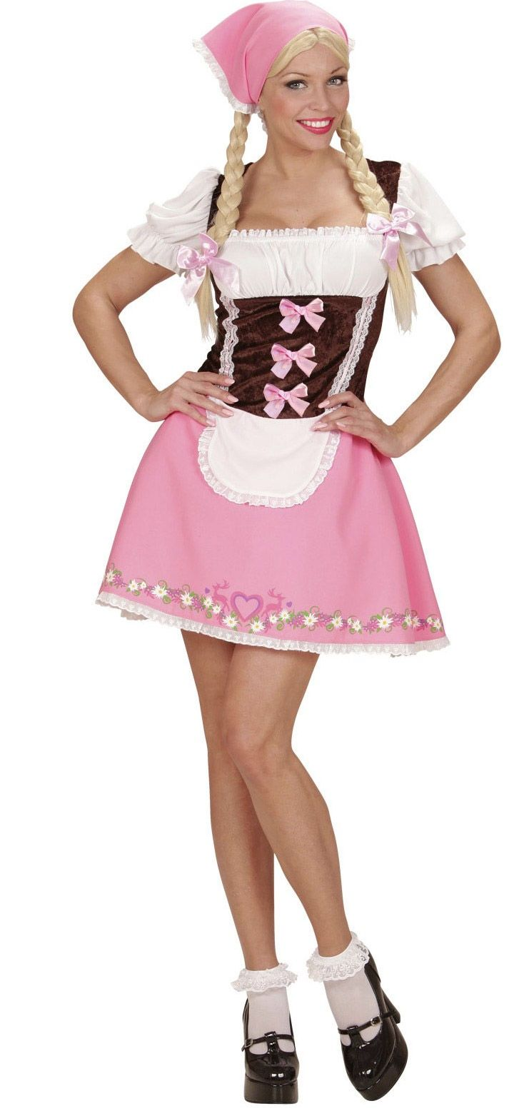 Disfraz Bávara rosa mujer: Este disfraz de bávara para mujer incluye vestido y…