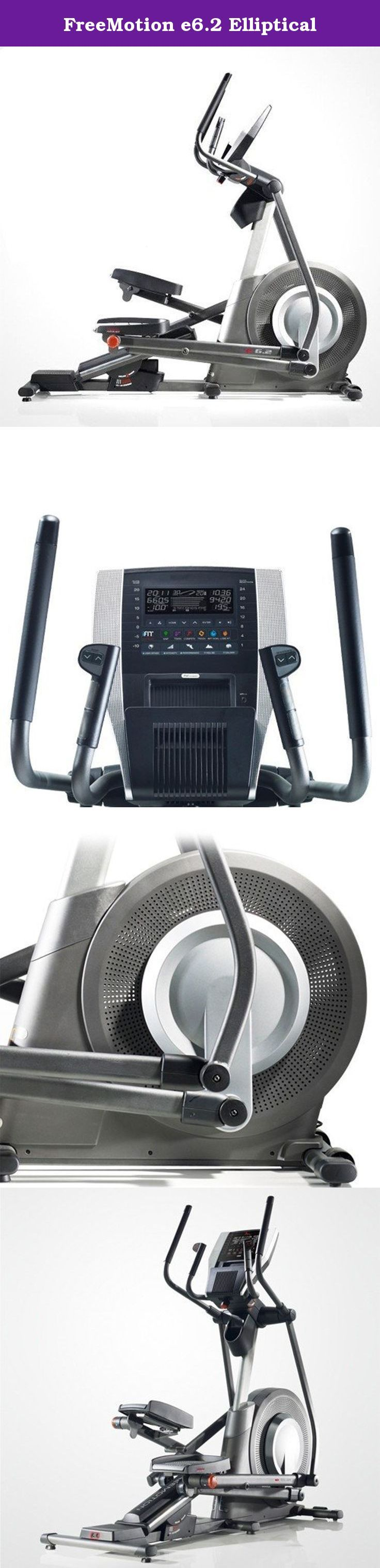FreeMotion e6.2 Elliptical. The #1 Brand in thousands of health clubs and used by over 50,000 million people World Wide, introduces this Award Winning fully loaded elliptical with Revolutionary features & specs: the only elliptical with New iFit Live & Google Maps Programming option to exercise anywhere in the world!* Elliptical actually sync's up to replicate the hill and valley terrain of any location. Walk or jog on the shores of Maui, Hawaii, hike through the Swiss Alps for the…