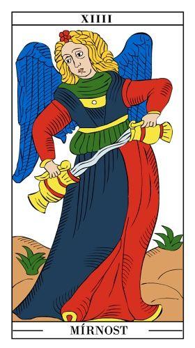 Tarotová karta Mírnost