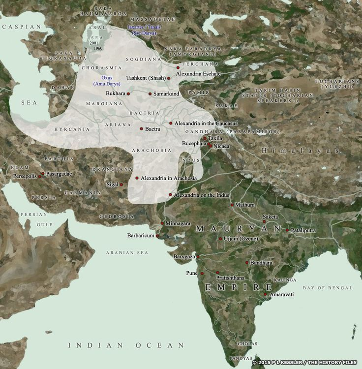 Map of Central Asia &: India c.200 BC