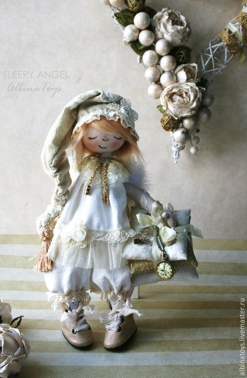 Купить Ангелы. Ангел Поля. Текстильная коллекционная кукла.Бохо стиль - розовый, кукла ангел