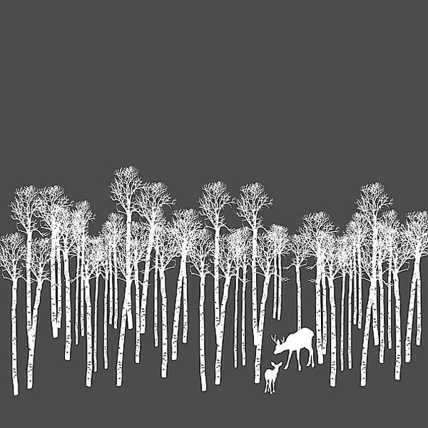 Forest folk print.