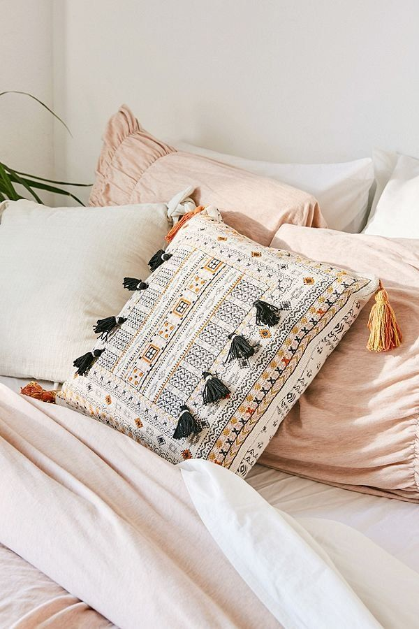 Harper Embroidered Throw Pillow With Images Embroidered Throw