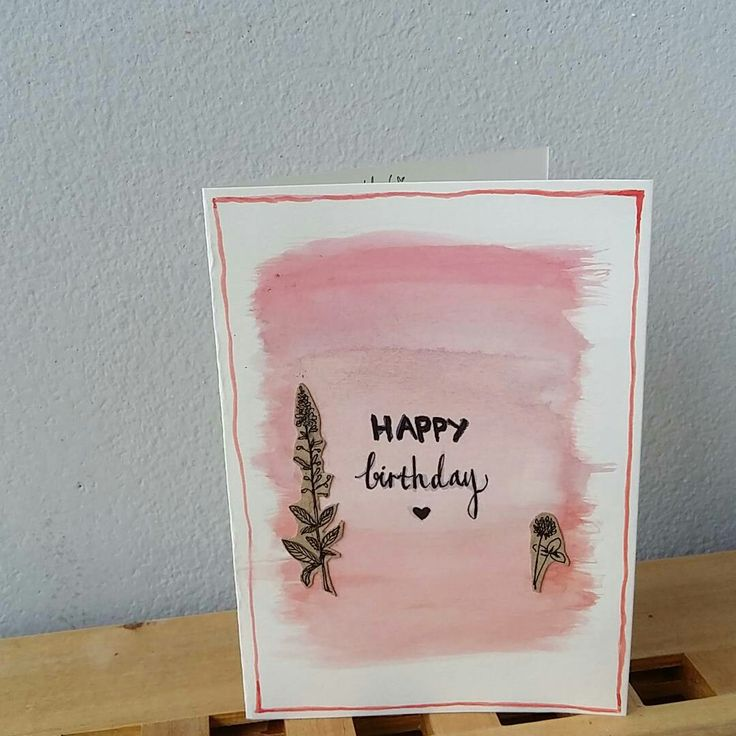 #handmadebykellylip #handmadebirthdaycard #withheart