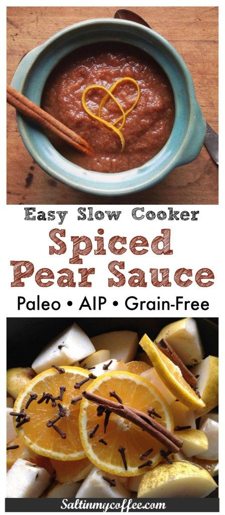 pear sauce healthy slow cooker homestead pears snack recipes paleo ...