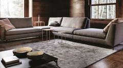 525 Nordic divano componibile su misura in tessuto o pelle per zona living, relax, seconda casa, hotel, scenografie, photo shooting. Vibieffe Made in Italy