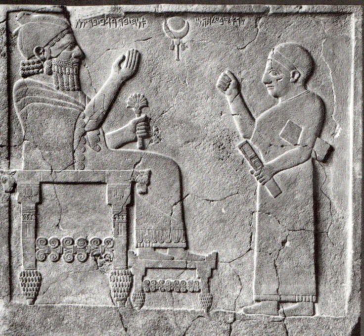 Hititte, One scribe and King Barrekab, Zincirli (Samat) Vorderasiatische Museum…