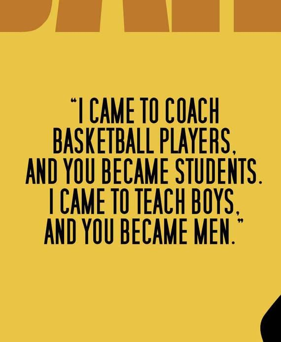 COACH CARTER Movie Quote Poster Art Print by ManCaveSportsSigns