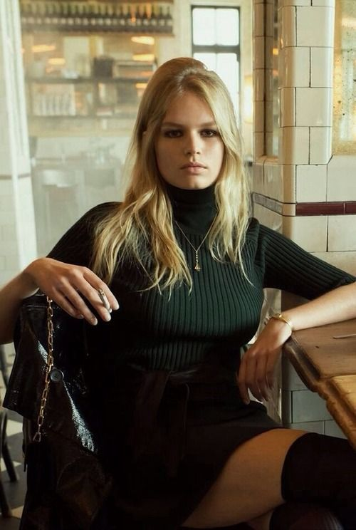 Anna Ewers by Steven Meisel for Vogue Italia #simple #turtleneck #myfavorite