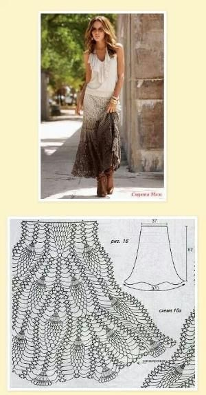 crochet maxi skirt with pattern by mavrica
