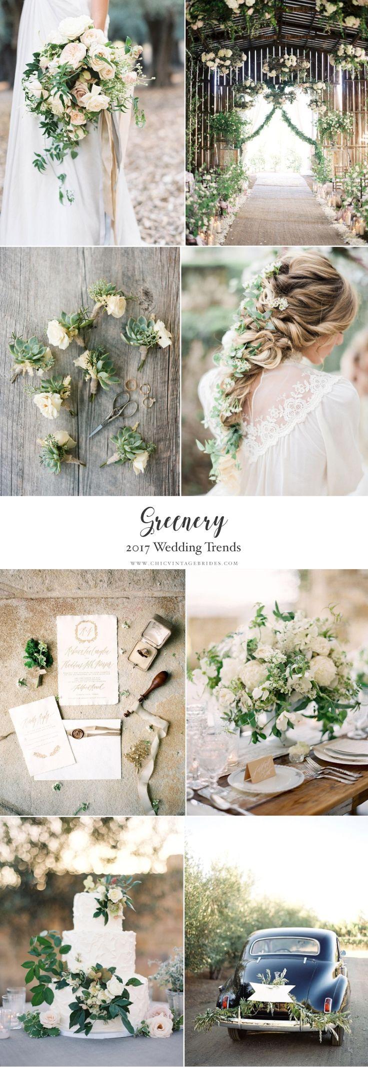 Top Wedding Trends 2017 - Greenery