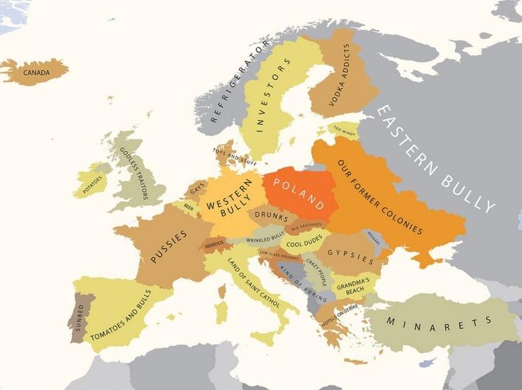 Europe According To Poland Funny Mapspolandeurope
