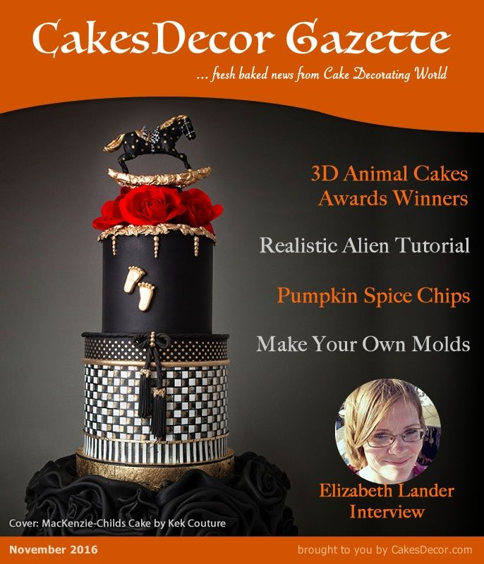 Cake Decorating Number Of Issues : 17 Best images about CakesDecor Gazette - cake decorating ...