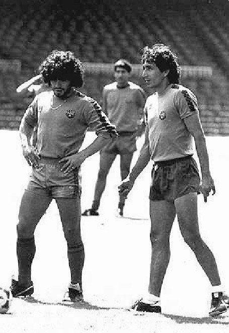 Mágico Gonzales y Maradona, Gira del FC Barcelona es USA, New Jersey 1984.