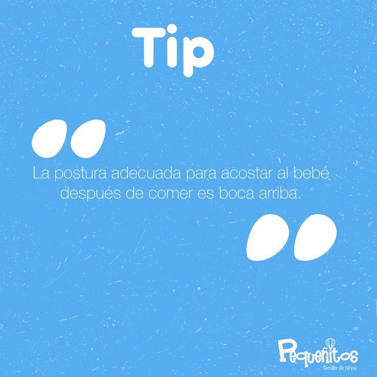 ¿Y tú, acuestas a tu hijo de manera correcta después de comer? #Tips #RecomendacionesParaNiños #pequenitosTiendadeNiños.