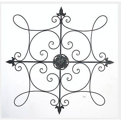 """Metal Wall Plaque 29.5"""" by FantasticDecor. $50.99. Buy multiple items, save on shipping. This unique, architectural wall decoration will make a dramatic focal point in any room. Strong metal is carefully handcrafted into many scrolls and curves. Made of iron in rusty finish. Measures 29.5""""x29.5""""."""