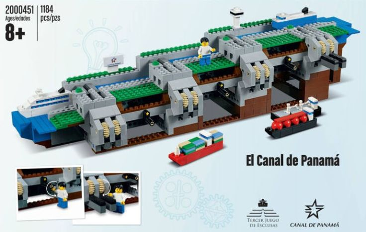 New Lego Set is a Working Model of the Panama Canal