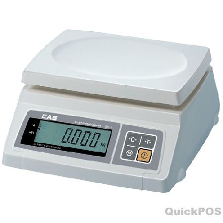 CAS Scale SW-1C 20Kg x 10g is a battery operated, low cost simple weighing scale with auto power off function or via optional adaptor on mains power. It has a large 25mm LCD Display-POS hardware And POS equipment