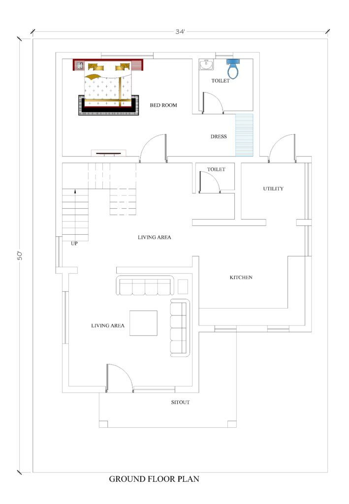 34x50 House Plans For Your Dream House House Plans House Plans How To Plan House Map