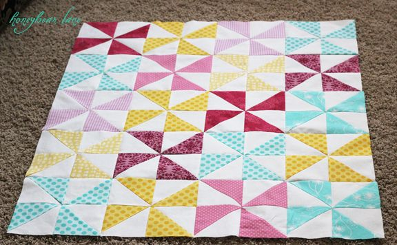 pinweel quilt tutorial: Quilts Pinwheels, Sewing Pinwheels, Solid Colors, Baby Blankets, Pinwheels Design, Pinwheels Tops, Pinwheels Quilts, Quilted Pinwheels