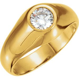 14K Yellow 6.5mm Round Ring Mounting * heirloom quality * ~ personalized for you at Enchanted Jewelry 104 Main St Danielson, CT USA