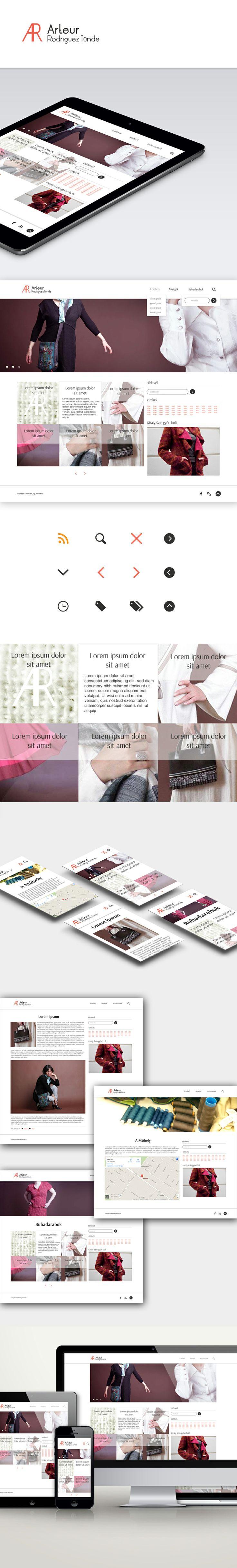 Arteur responsive redesign view online: http://www.arteur.hu/