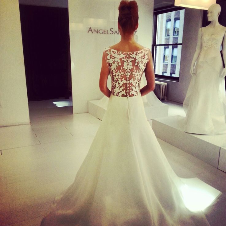 Angel sanchez wedding dress fall 2014 collection photo for Lace wedding dress instagram
