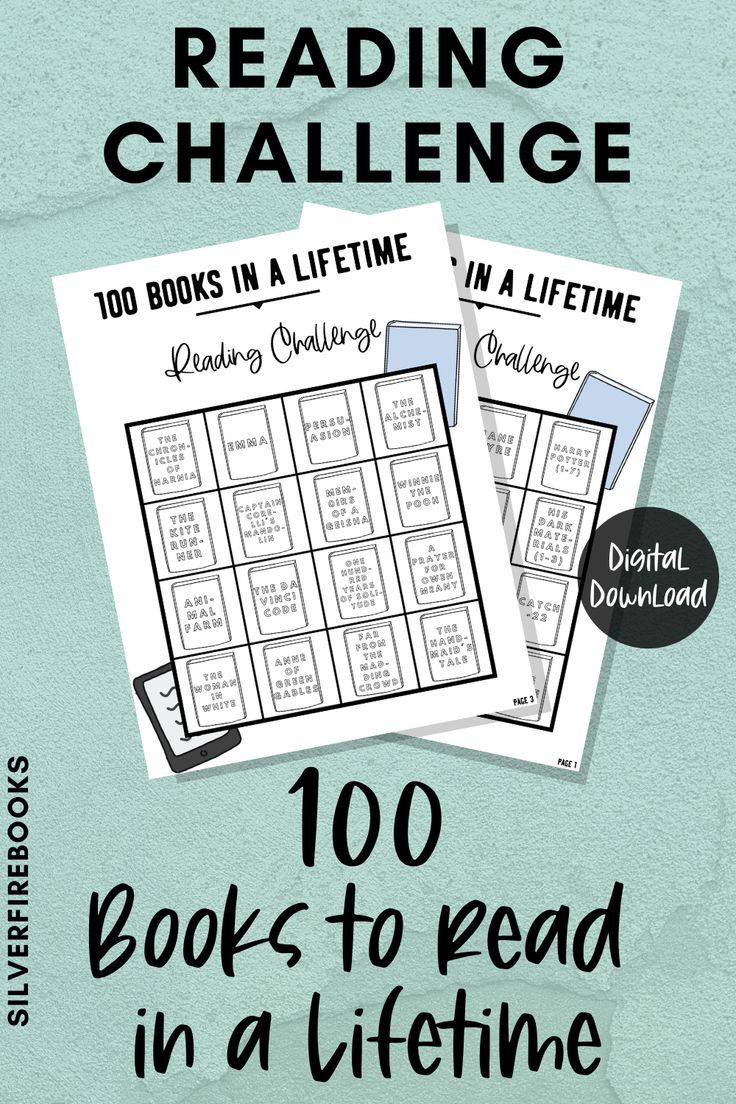 Reading Challenge Printable 100 Books To Read In Your Life Book